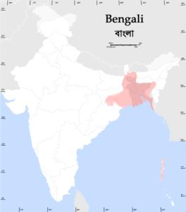распространение бенгальского языка