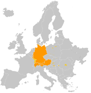 Распространение немецкого языка в Европе