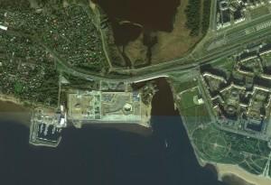 Лахта центр. Вид из космоса
