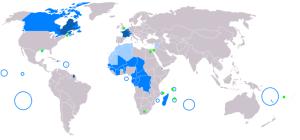 Распространение французского языка