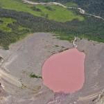 Пыльное розовое озеро