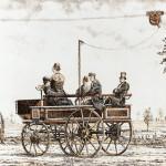 Первые троллейбусы выглядели как повозки без крыши.
