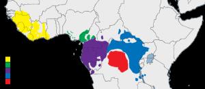 Ареал обитания шимпанзе