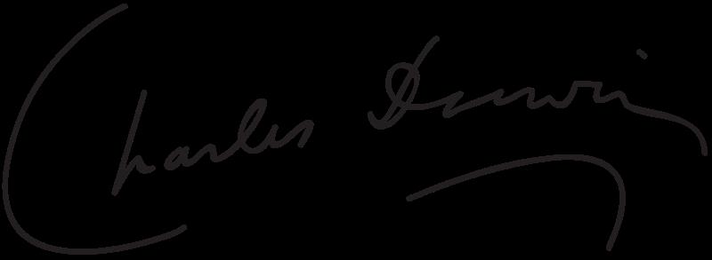 Подпись Чарльза Дарвина