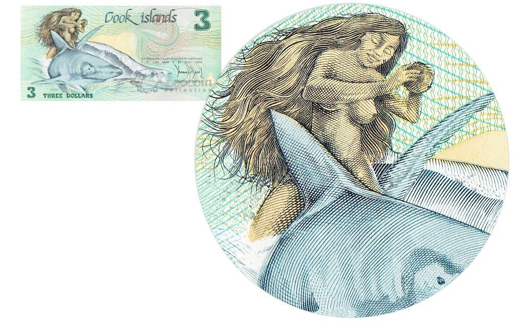 Обнажённая девушка на банкнотах