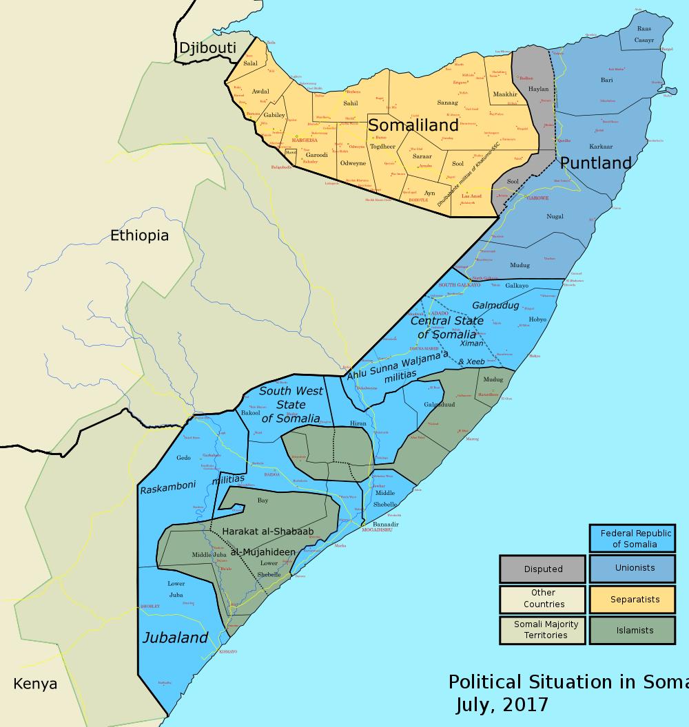 Карта Сомали