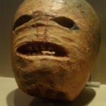 Голова из брюквы на Хэллоуин