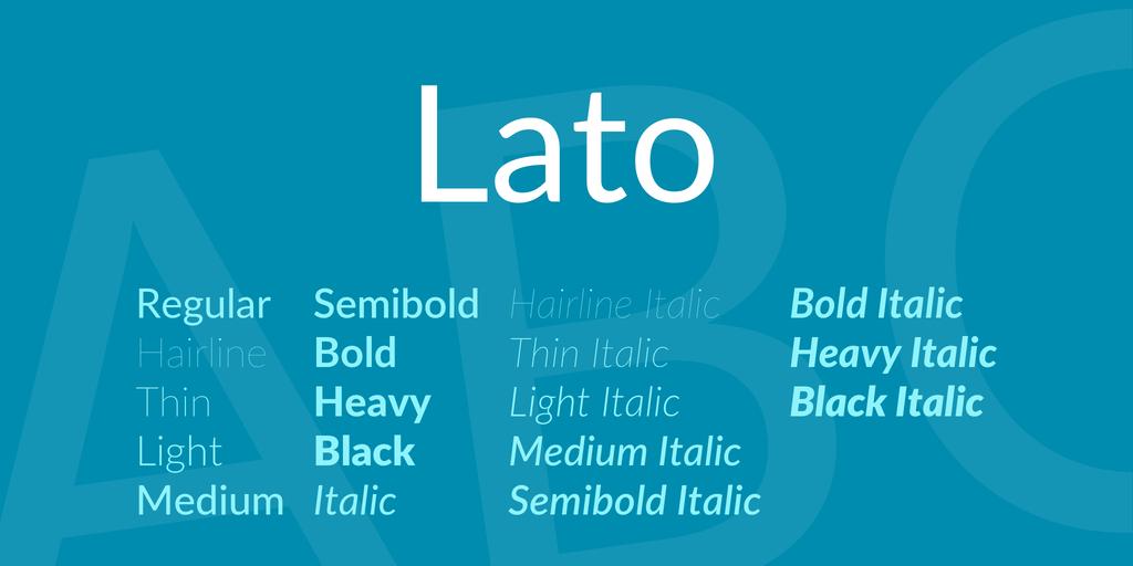 Lato (аналог Calibri)