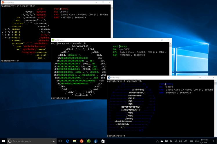 юзеры Windows 10с 2017 года могут устанавливать Linux-среды Ubuntu, Fedora иSUSE прямо измагазина приложений Windows.