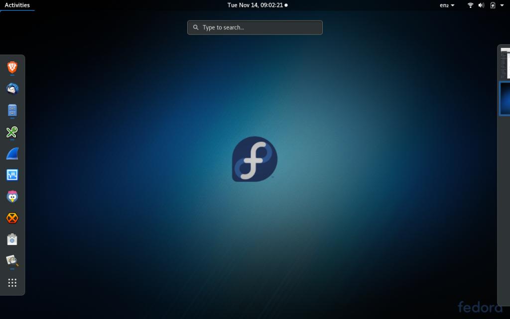Fedora 27 gnome