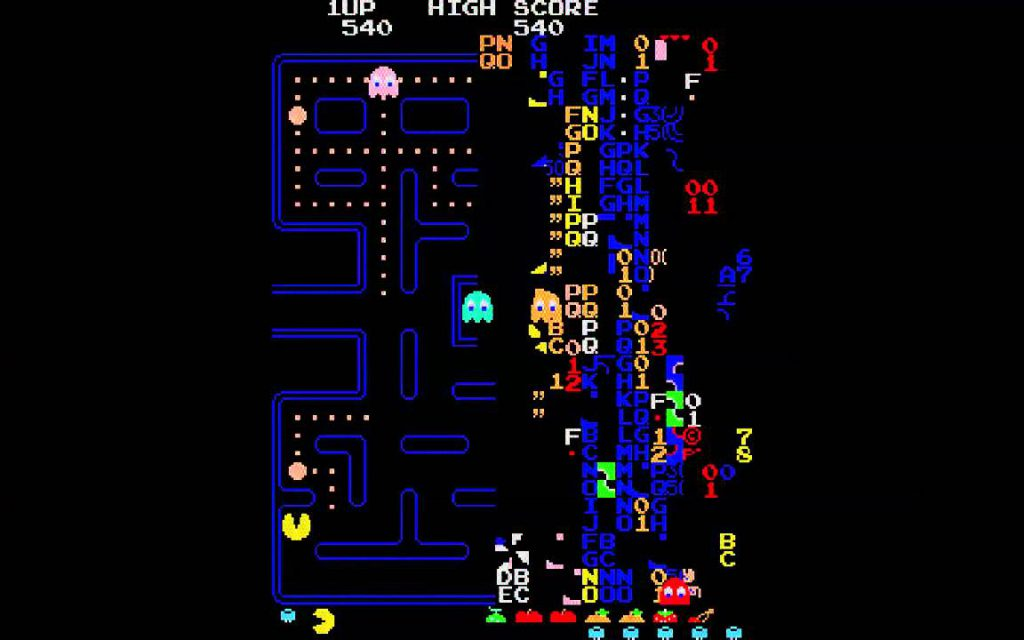 Глитч в игре Pac-Man, 256 уровень игры