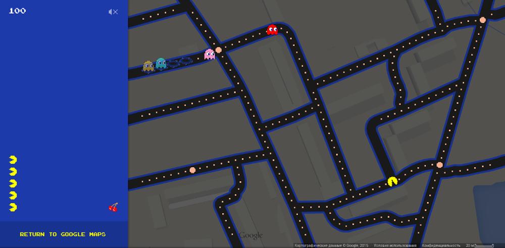 Пакман на Google.Maps