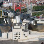 музей Гуггенхайма в Бильбао, вид с высоты птичьего полёта