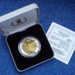 Монета из смеси серебра и тантала