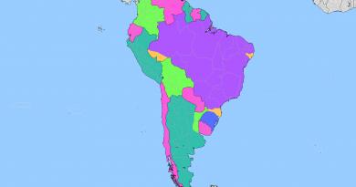 Какой бы могла быть карта Южной Америки