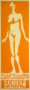 Плакат участника группы «Мост» Фрица Блейля (1906)