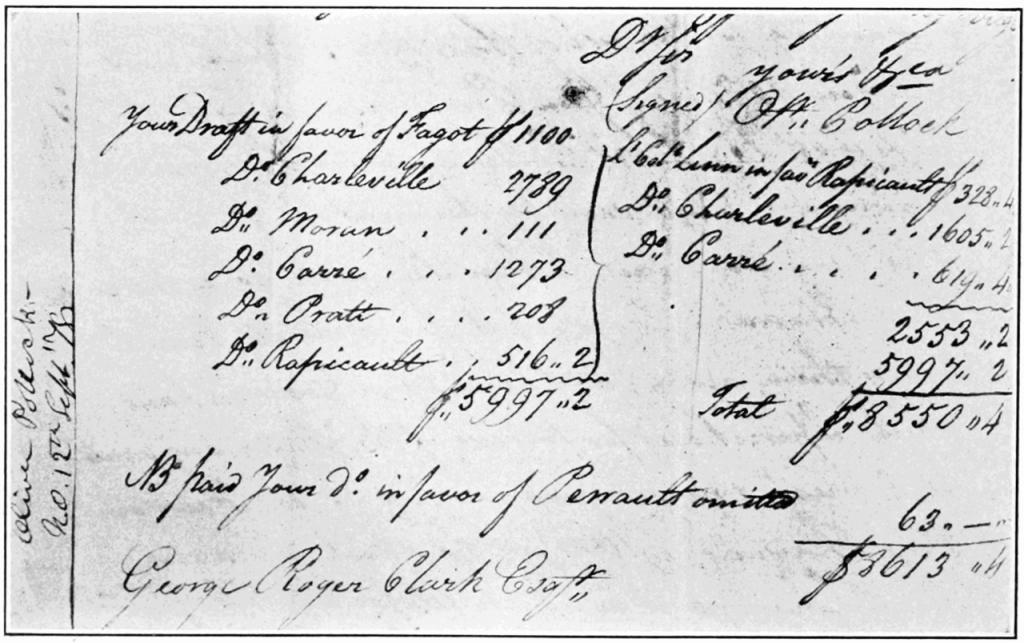 Финансовый документ конца XVIII века с символом $ в виде аббревиатуры «Ps»