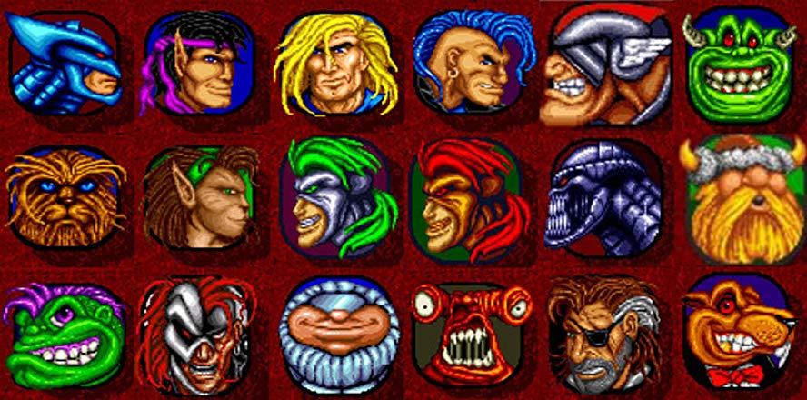Выбор персонажей в Рок-н-ролл рейсинг