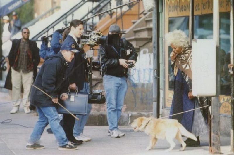 """Кадры со съёмок фильма """"Адвокат дьявола"""", 1997 г."""