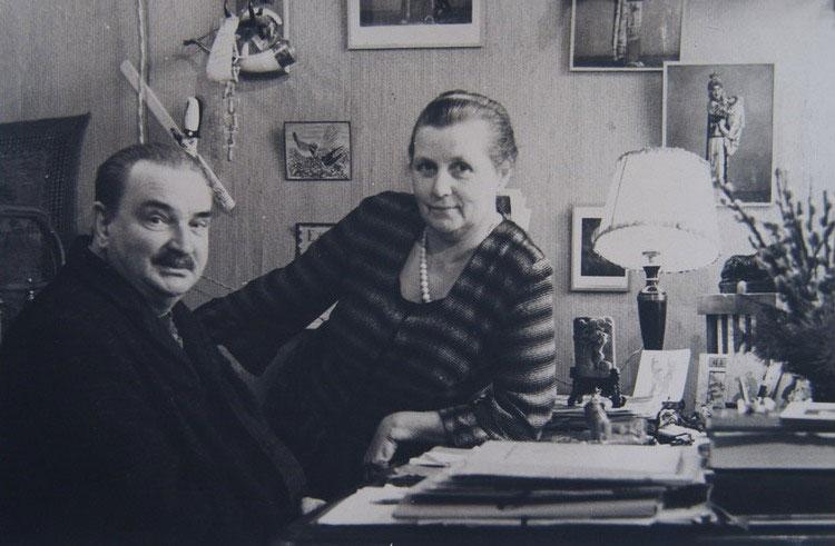 Виталий Бианки с женой