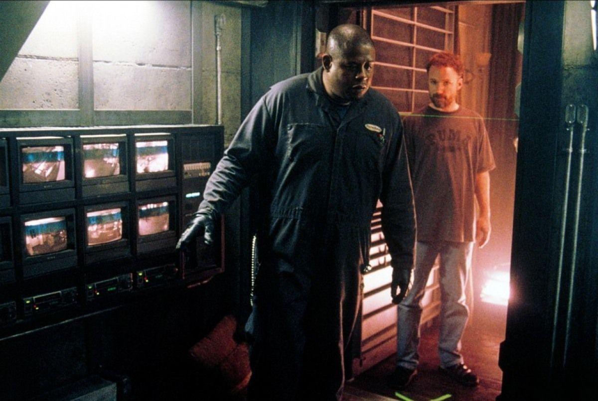 """Кадры со съёмок фильма """"Комната страха"""" (2002)"""