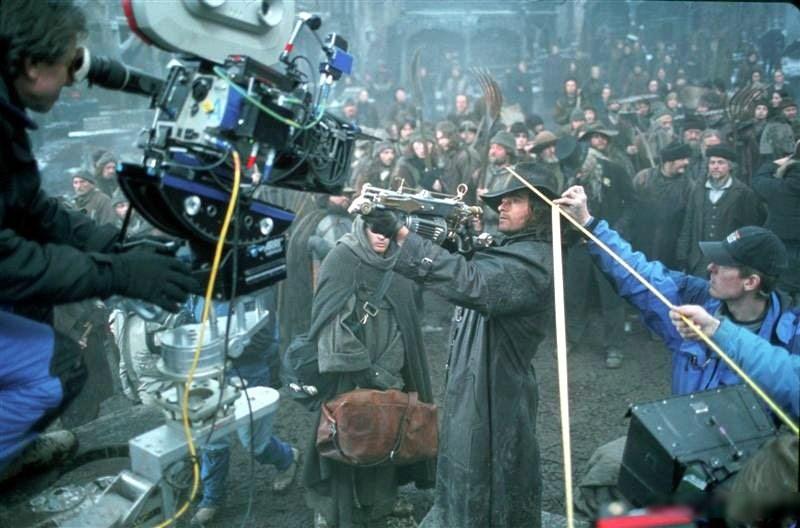 """Кадры со съёмок фильма """"Ван Хельсинг"""" (2004)"""