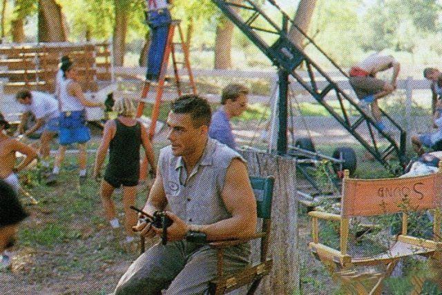 """Кадры со съёмок фильма """"Универсальны солдат"""", 1992 г."""