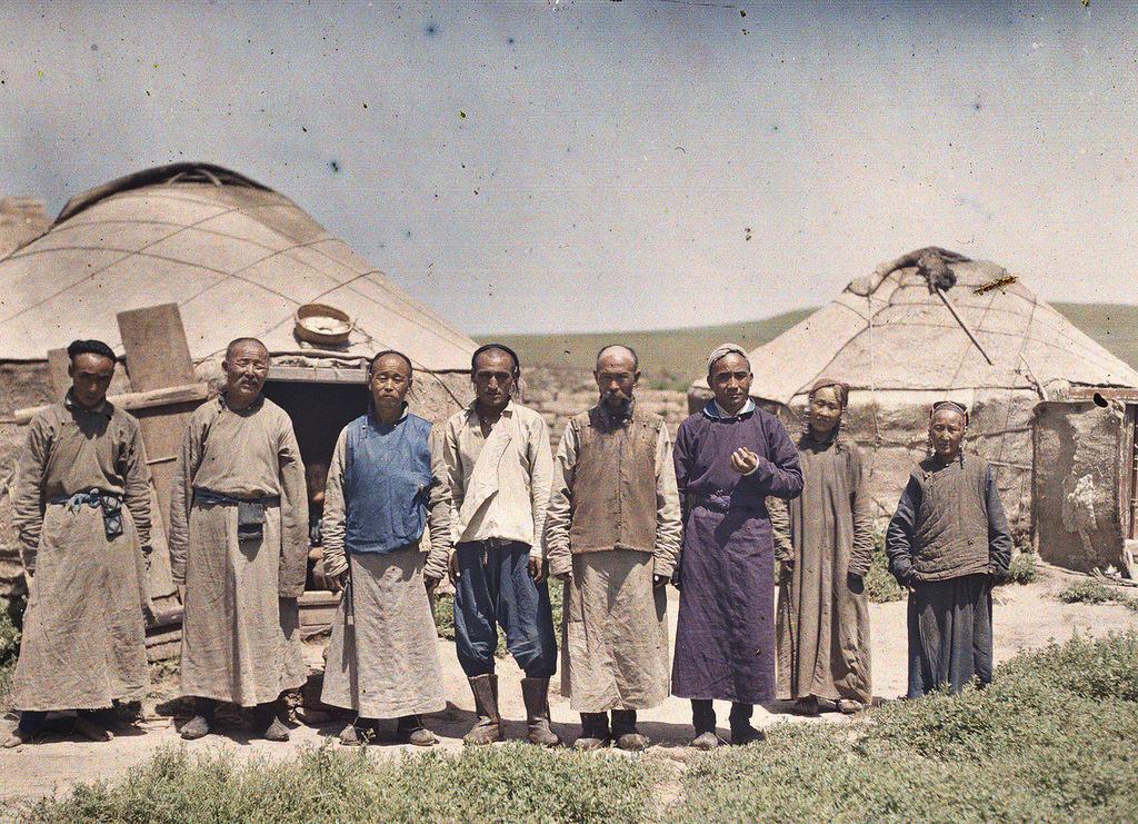 Фотография монголов, сделанная в регионе Внутренняя Монголия, 1912 г.