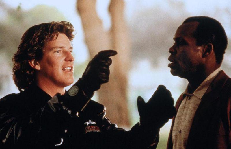 """Кадр со съёмок фильма """"Хищник 2"""", 1990"""