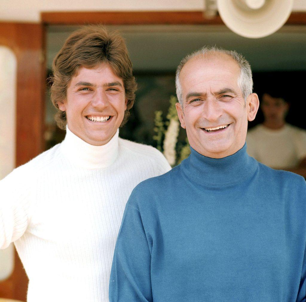 Луи де Фюнес с сыном Оливье